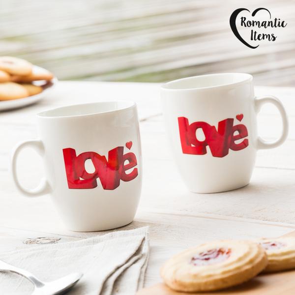 Kubeczki Love Romantic Items (2 sztuki)