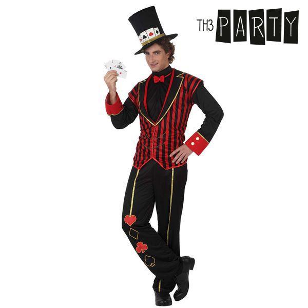 Kostým pro dospělé Th3 Party Džentlmen při míchání karet v pokeru - XL
