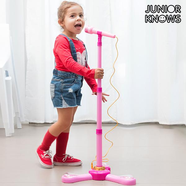Stojanový Mikrofon s LED a Připojením na MP3 nebo Telefon Junior Knows