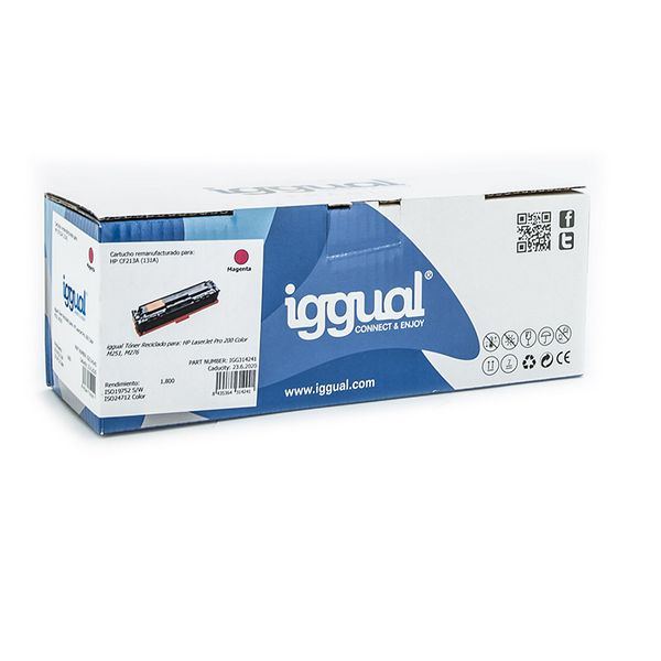 Toner z Recyklingu iggual IGG314241 HP 131X CF213X Magena
