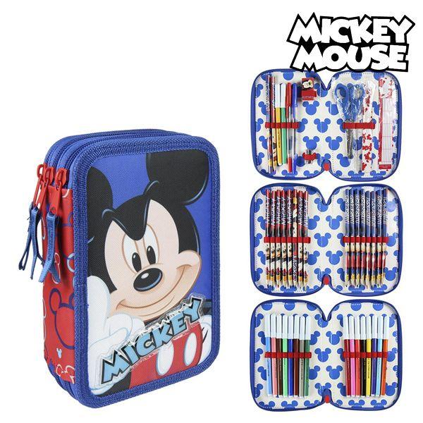 Piórnik potrójny Mickey Mouse 58577 Czerwony