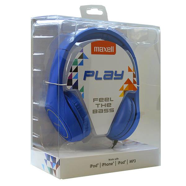 Słuchawki Maxell Play MXH-HP500 Niebieski Diadem