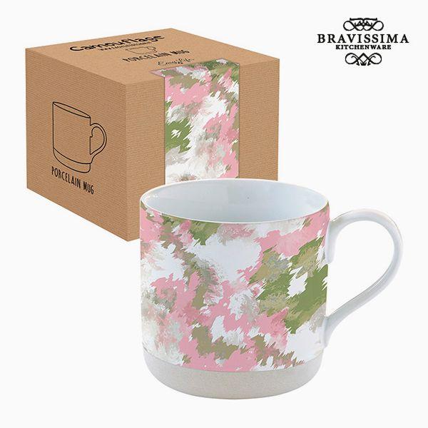 Hrnek s krabičkou Porcelán Kamufláž Růžový by Bravissima Kitchen