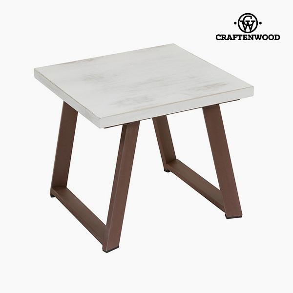Malý postranní stolek Dřevo Bílý Kaštanová (50 x 50 x 45 cm) by Craftenwood