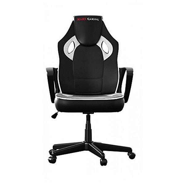 Fotel dla Graczy Tacens MGC0BW Metal PVC Biały Czarny