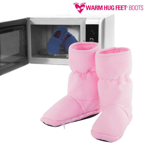 Nahřívací botky Warm Hug Feet - Růžový, L