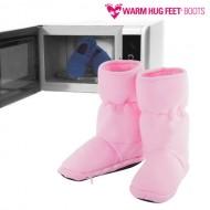 Bambosze Warm Hug Feet do Podgrzewania w Kuchence Mikrofalowej - Różowy, L