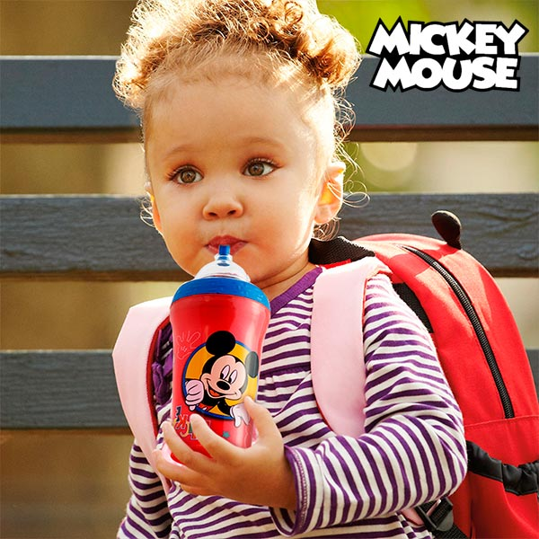 Pohár s Brčkem s Mickey Mousem a Goofym