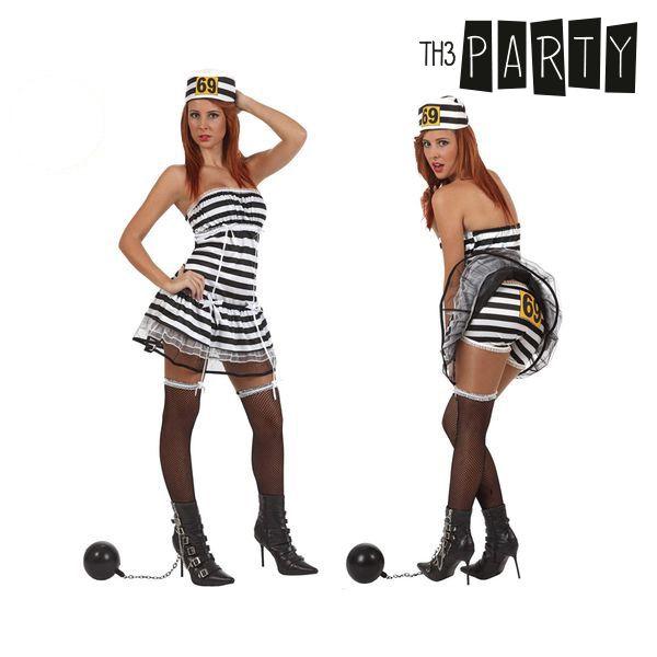 Kostým pro dospělé Th3 Party Sexy vězenkyně - M/L