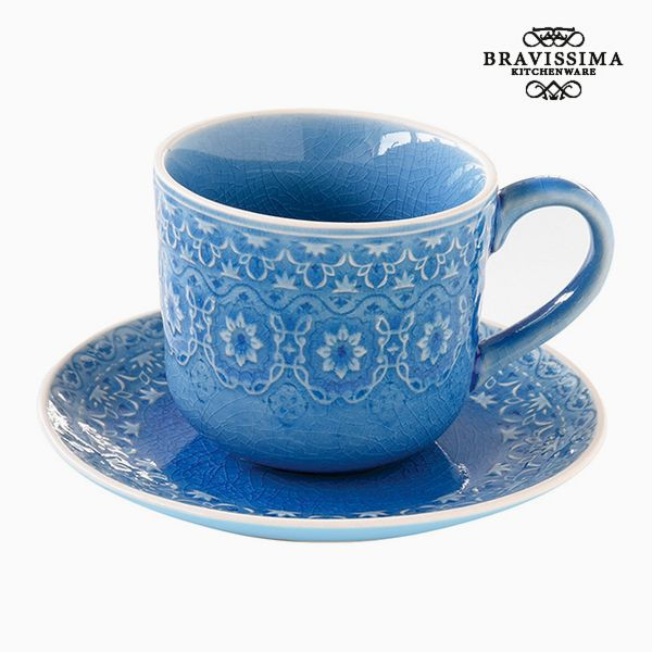 Kubek do naparów Porcelana Niebieski by Bravissima Kitchen