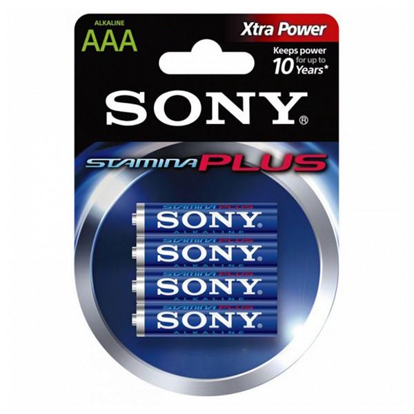 Alkalická baterie Sony AM4L-B4D AM4L-B4D 1,5 V AAA (4 pcs) Modrý Zelená