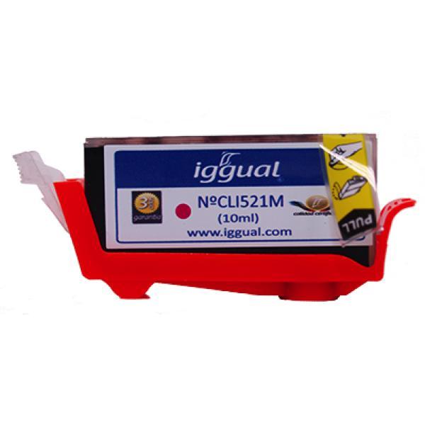 Recyklovaná Inkoustová Kazeta iggual Canon PSICLI521M Purpurová