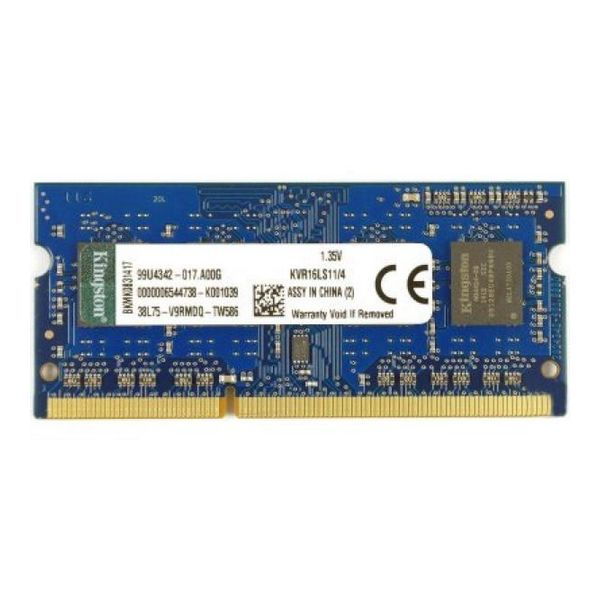 Pamięć RAM Kingston KVR16LS11 4 GB SoDim DDR3 1600MHz 1.35V