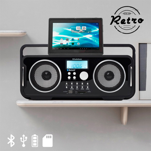 Ładowane Retro Radio Bluetooth AudioSonic RD1556
