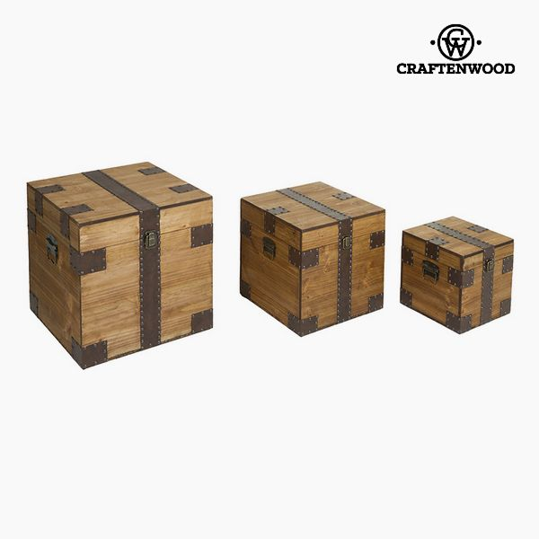 Zestaw kufrów (3 pcs) Mdf (40 x 40 x 40 cm) by Craftenwood