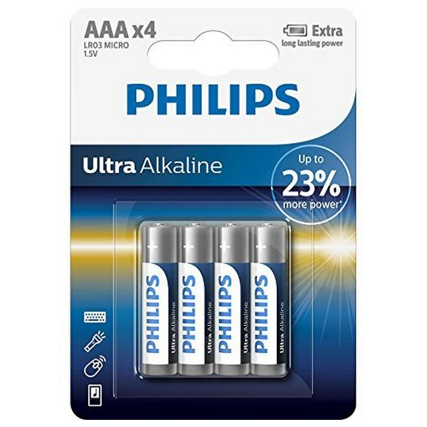 Alkalické Baterie Philips LR03 AAA LR03 (4 pcs)