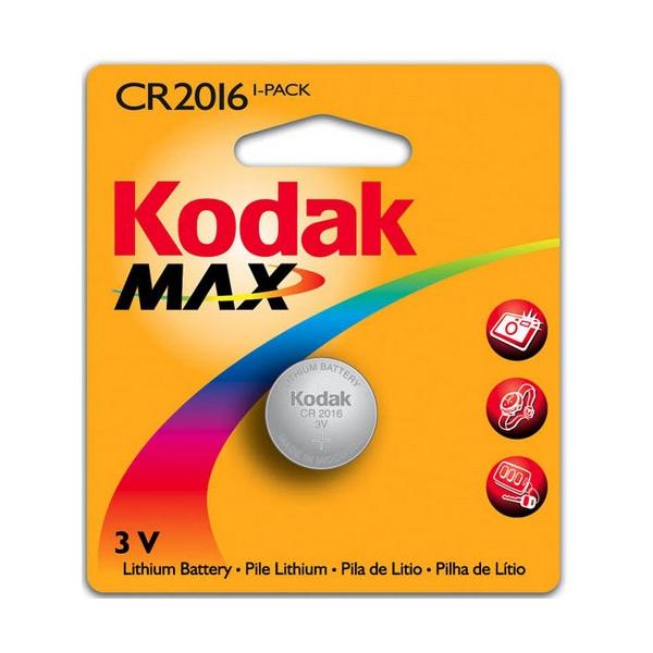 Knoflíková lithiová baterie Kodak KCR2016 3 V Stříbro
