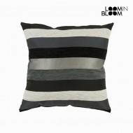 Poduszka Czarny (45 x 45 x 10 cm) - Colored Lines Kolekcja by Loom In Bloom