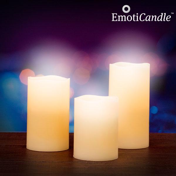 Świeczki EmotiCandle Blow Sensor LED (3 sztuki)