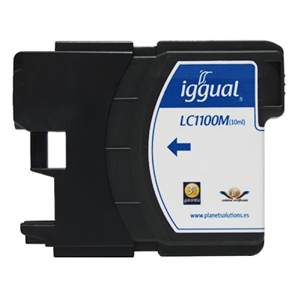 Recyklovaná Inkoustová Kazeta iggual Brother PSILC1100M Purpurová