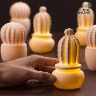 Ceramiczny Kaktus z LED Shine Inline