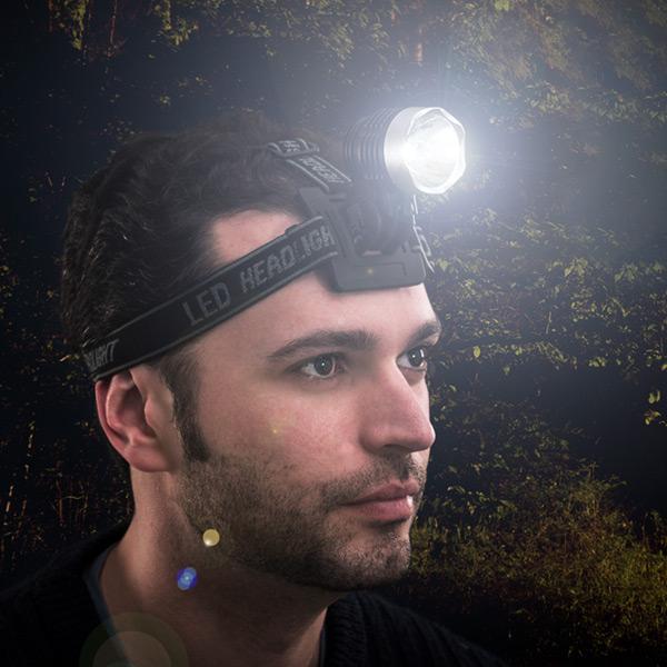 Latarka LED na Głowę lub Kask
