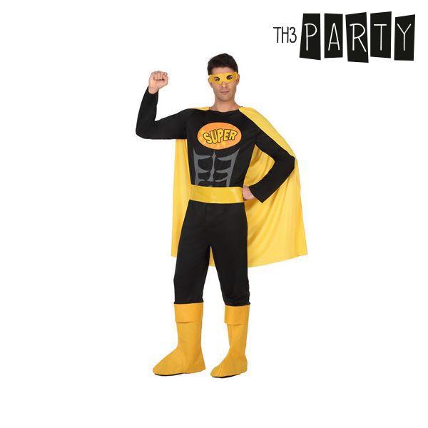 Kostium dla Dorosłych Th3 Party Superbohater Czarny - XL
