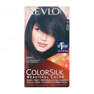 Farba bez Amoniaku Colorsilk Revlon Delikatna czerń