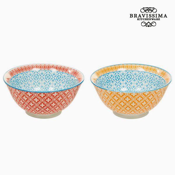 Set of bowls Porcelana Pomarańczowy Czerwony (2 pcs) - Queen Kitchen Kolekcja by Bravissima Kitchen