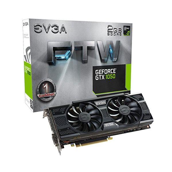 Herní grafická karta EVGA 02G-P4-6157-KR GTX 1050 FTW ACX 3 2 GB|DDR5