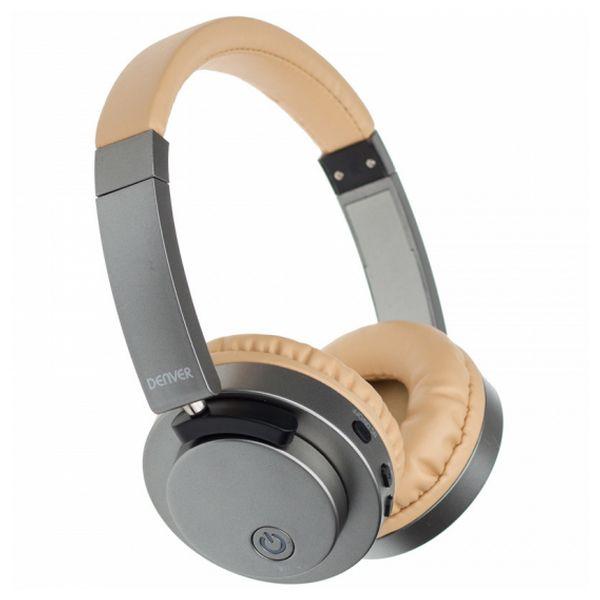 Sluchátka s Bluetooth Denver Electronics BTN-206 250 mAh Šedý Zlatá