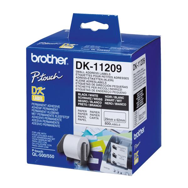 Štítky do Tiskárny Brother DK11209 62 x 29 mm Bílý