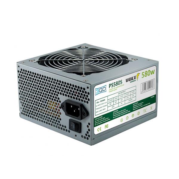 Zasilanie 3GO PS580S ATX 580W Szary Metaliczny Matowy