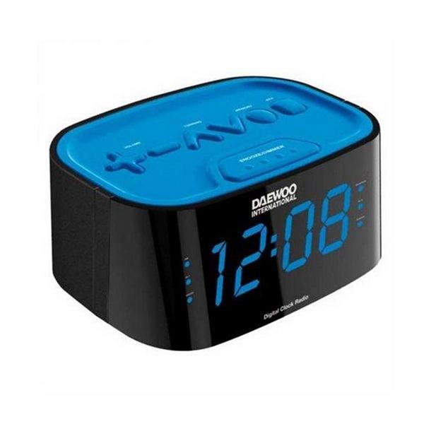 Zegar z Radiem Daewoo DCR45BL Niebieski