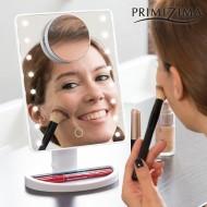 Kosmetické zvětšovací zrcátko s LED osvětlením - Primizima