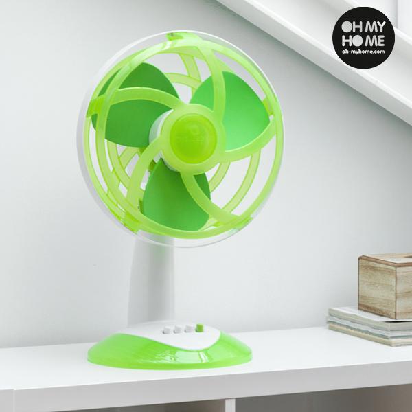 Zelený Stolní Ventilátor s Vrtulí z EVA Gumy Oh My Home 45 W