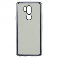 Pouzdro na mobily Lg G7 Flex Metal TPU Transparentní Šedý Kovová