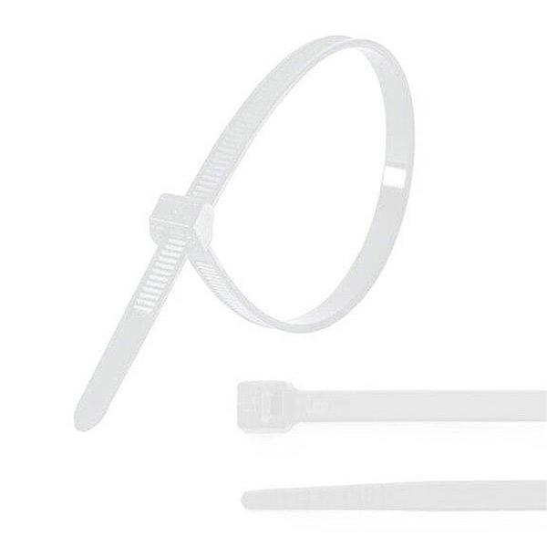 Nylonové stahovací pásky iggual IGG311257 200 x 4,8 mm 100 pcs Bílý