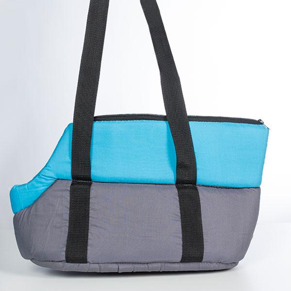 Materiałowy Transporter dla Zwięrząt - Niebieski
