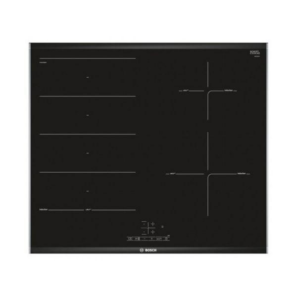 Indukční Plotýnka BOSCH PXE675BB1E 60 cm (3 místo pro vaření) Černý