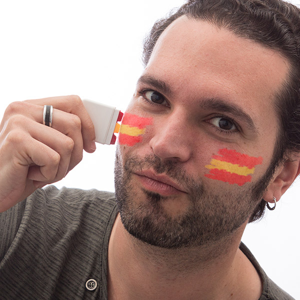 Farby do twarzy flaga Hiszpanii