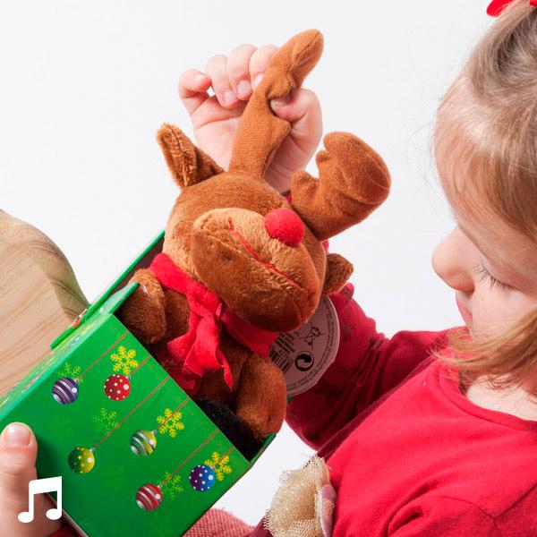 Hrající Vánoční Plyšová Hračka v Ozdobné Krabici