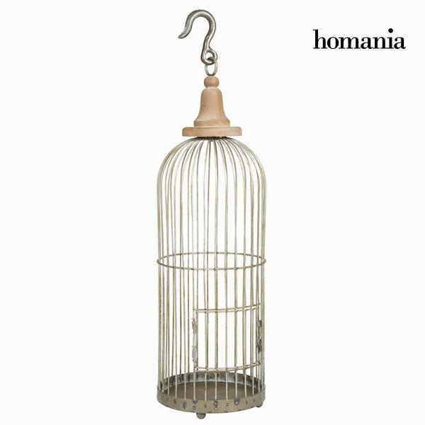 Dekorativní klec z šedého kovu - Art & Metal Kolekce by Homania