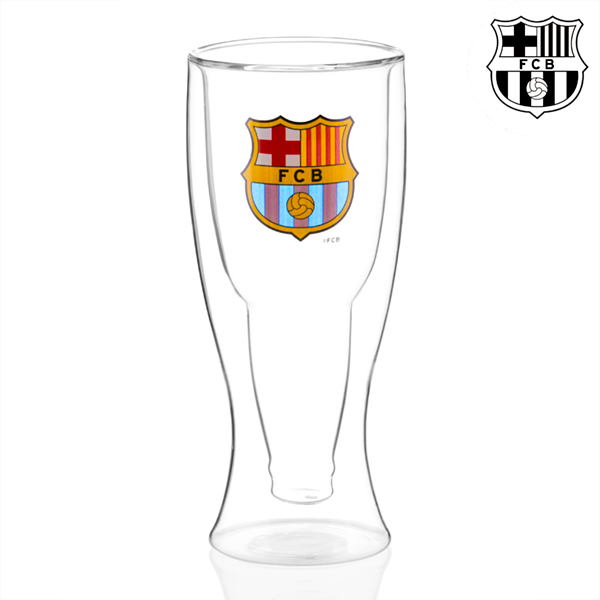 Sklenice na Pivo s Dvojitou Stěnou FC Barcelona