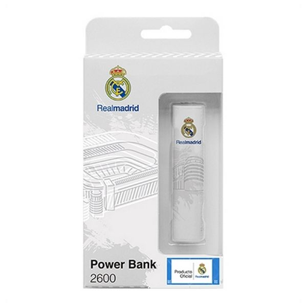 Powerbanka Real Madrid C.F. RMPWB001 2600 mAh Bílý