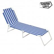 Ležaljka Adventure Goods 33616 (187 x 55 x 27 cm) Modrý Bílý