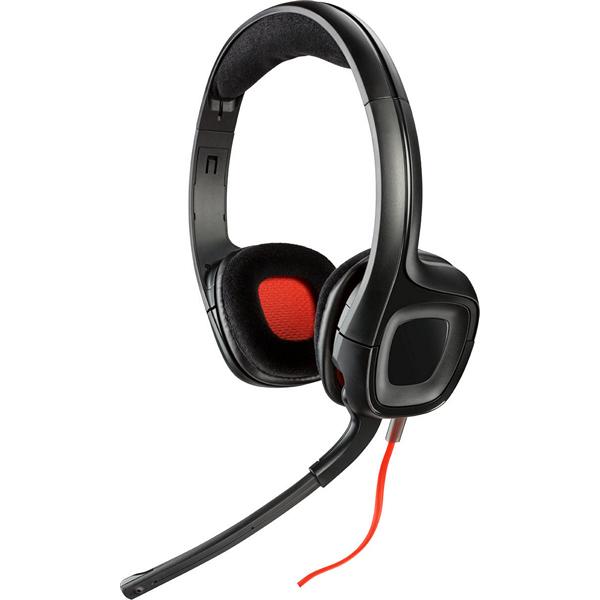 Słuchawki z Mikrofonem Plantronics 222556 40 mm Czarny Czerwony