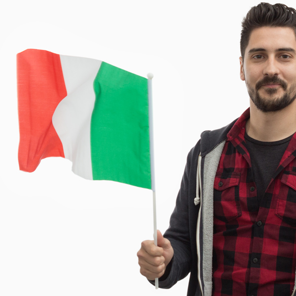Italská Vlajka na Žerdi (46 x 30 cm)