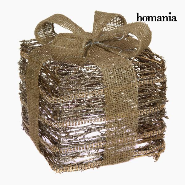 Ozdobná krabice Železo Ratan Šampaňský Zlatá by Homania