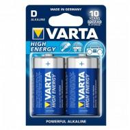 Alkalická batéria Varta LR20 D 1,5 V 16500 mAh High Energy (2 pcs) Modrá